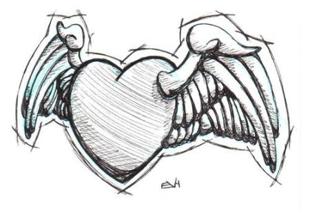 Doodle 101 - Heart with Wings