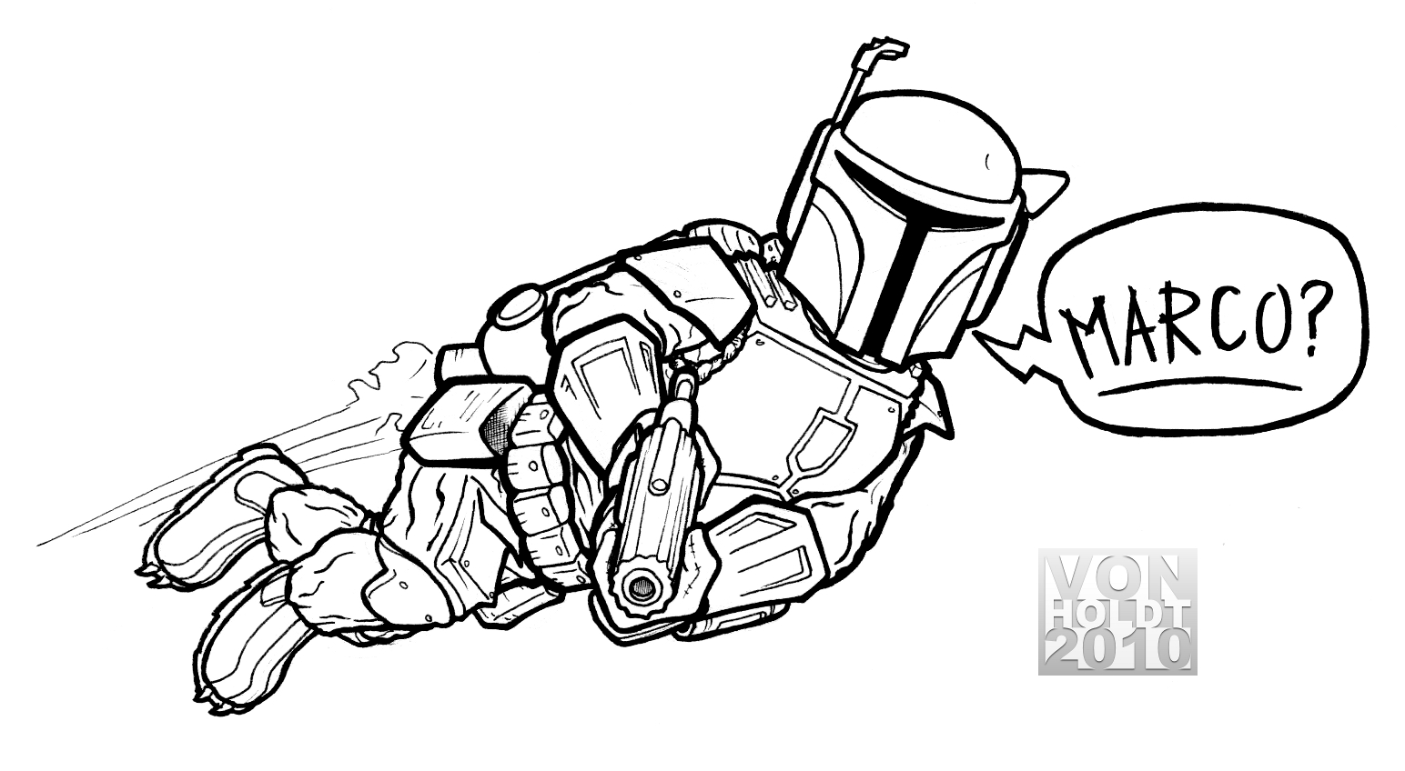 star wars coloring pages boba fett - boba fett doodle a day
